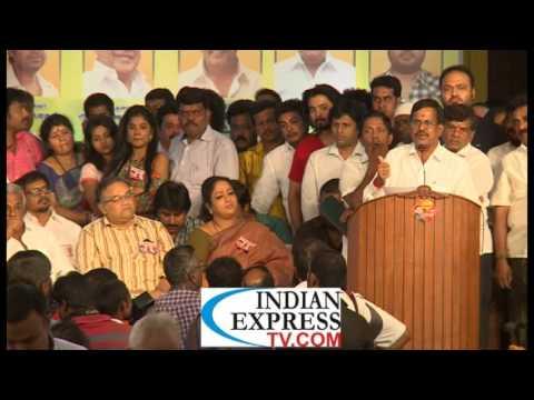 Cheran ,Kalaipuli S Thanu,Thenappan, bonda mani support Sarathkumar team
