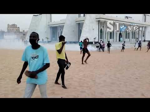 Video /Plage de Cambéréne: Affrontement entre Forces de l'ordre et des jeunes…