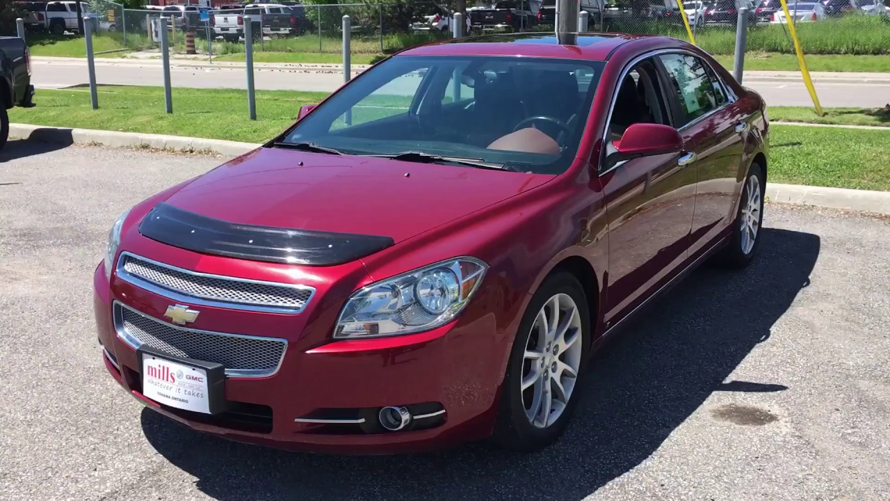 Pre Owned 2009 Chevrolet Malibu Ltz 2 4l Leather Bluetooth Sunroof Oshawa On Stock 170521a