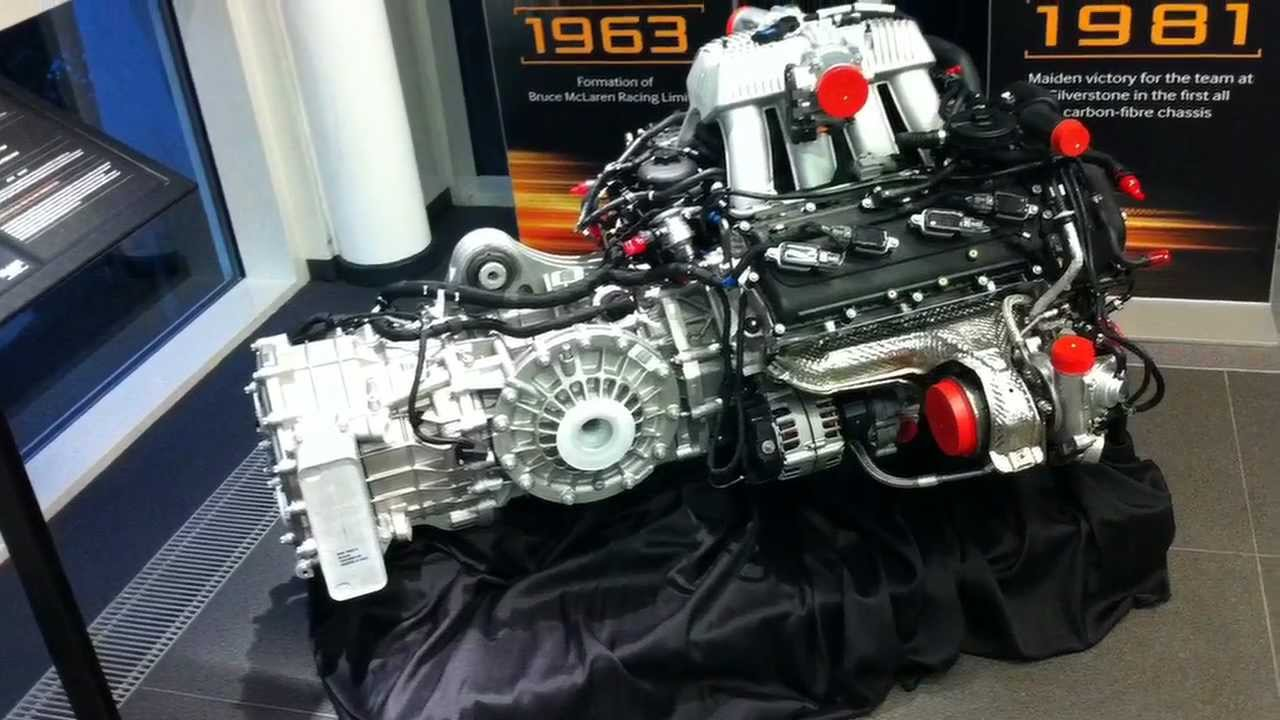 Mclaren Mp4 12c Engine Youtube