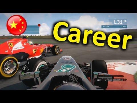 F1 2013 China 100% Career Mode Part 22: Shanghai
