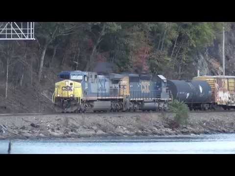 CSX Freight Trains at Fort Montgomery NY