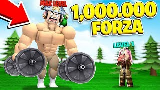 I BECOME THE MOST POWERFUL OF THE WHOLE MAP WITH 1,000,000 STRENGTH! - ROBLOX