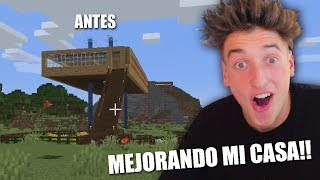 MEJORANDO MI CASA DE MINECRAFT EN DIRECTO!!