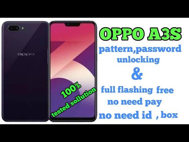 Oppo A3s Flashing Error