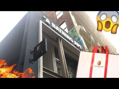 SHOPPING AT THE BATHING APE STORE IN SOHO!!!