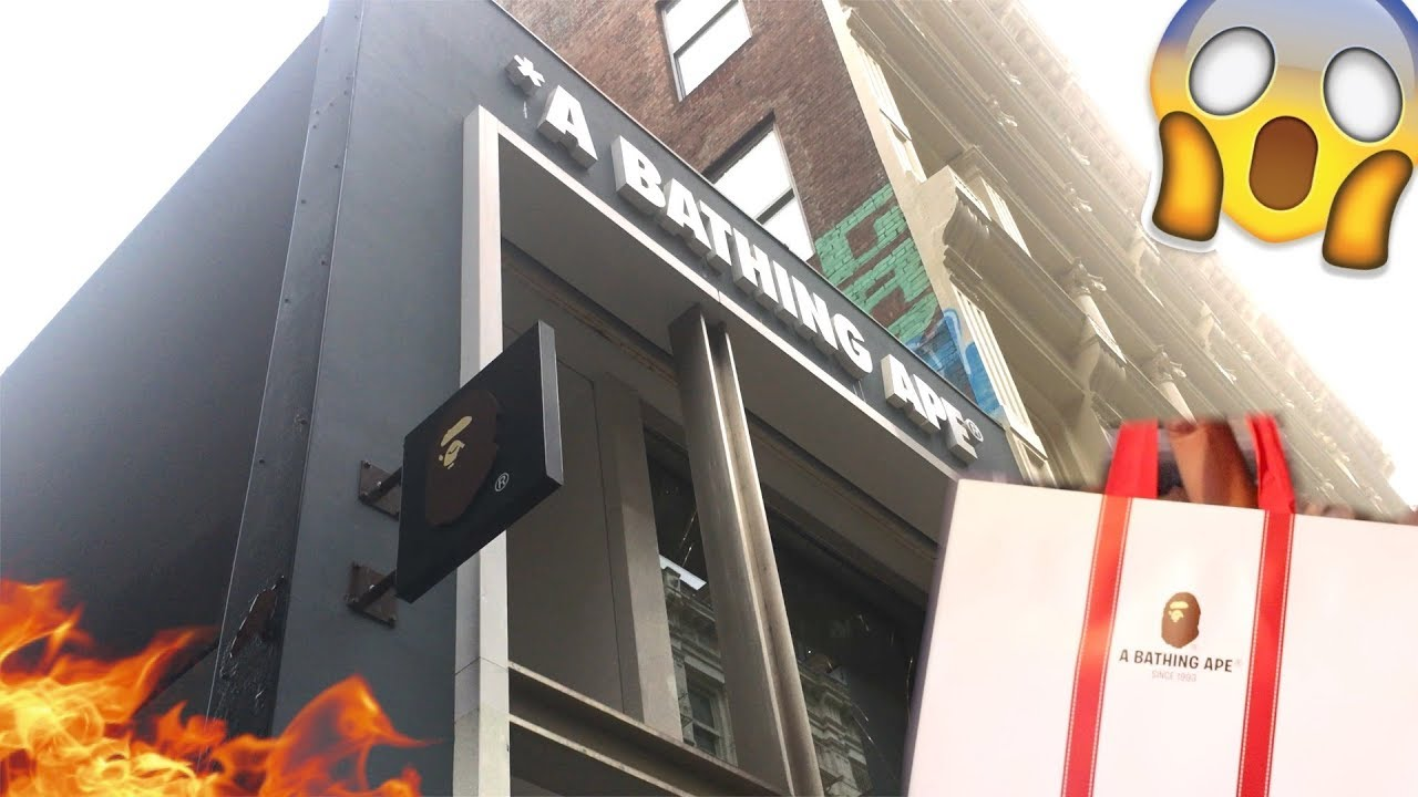 4aa62bb41b1d SHOPPING AT THE BATHING APE STORE IN SOHO!!! - YouTube