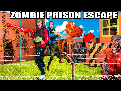 Box Fort Zombies PRISON ESCAPE Challenge! 24 Hour ZOMBIES Nerf War Z 📦😱