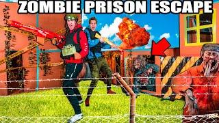 Box Fort Zombies PRISON ESCAPE Challenge! 24 Hour ZOMBIES Nerf War Z