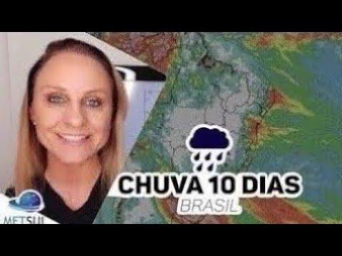 13/09/2021 - Previsão do tempo Brasil - Chuva 10 dias   METSUL