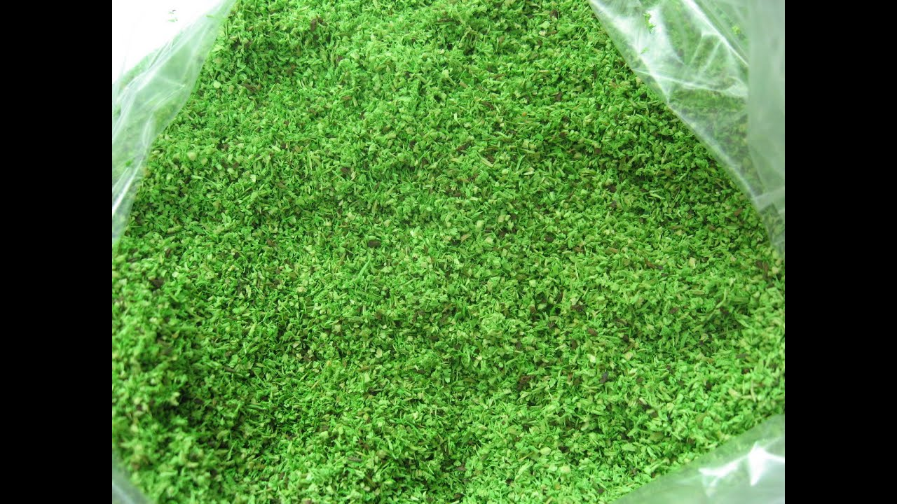 How To Make Artificial Grass For Models Home Made Youtube