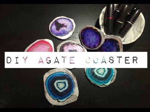 DIY AGATE COASTER !!!