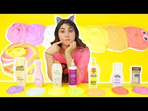TESTING DIFFERENT LOTIONS FOR CLAY Part 2 | Slimeatory #145