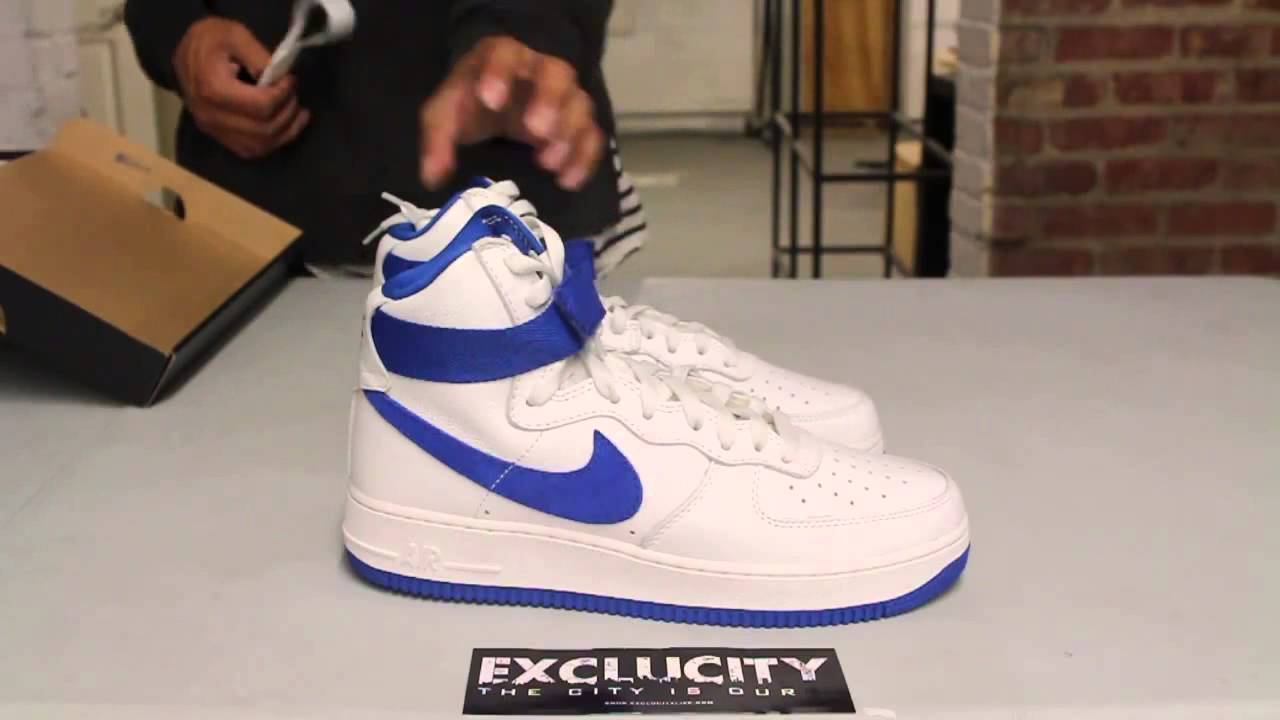 timeless design 8795f 16574 Nike Air Force 1 High OG - Game Royal - Unboxing Video at Exclucity -  YouTube
