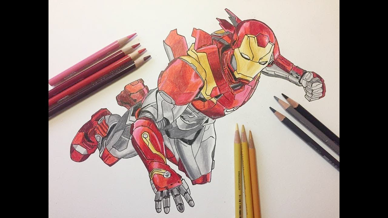 drawing iron-man from the avenger - infinity war - youtube