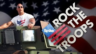 """Dwayne """"The Rock"""" Johnson Sets Out To ROCK THE TROOPS on Veteran"""