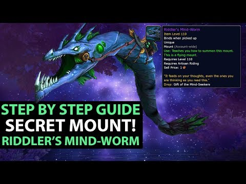 World Of Warcraft Legion SECRET MOUNT Riddler's Mind Worm - All Page Locations FULL GUIDE