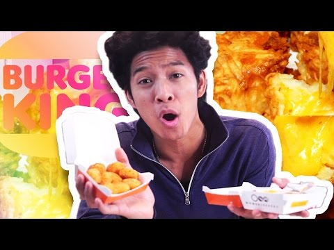 TRYING BURGER KING CHEESY TOTS!!! thumbnail