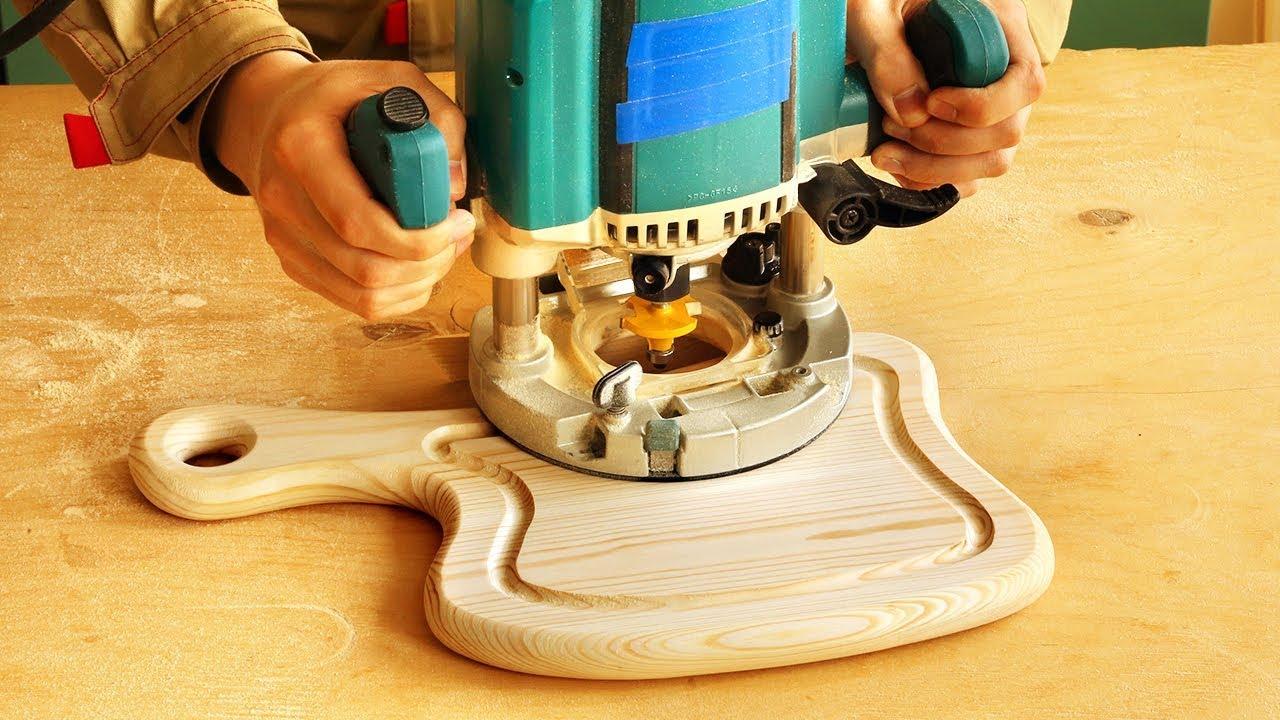 Фрезерование разделочной доски в форме топора, milling cutting board in an axe shape