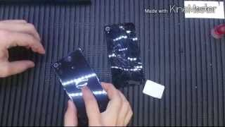 Como trocar tampa traseira Sony Xperia Z3 Tutorial vedacao (branco e preto)