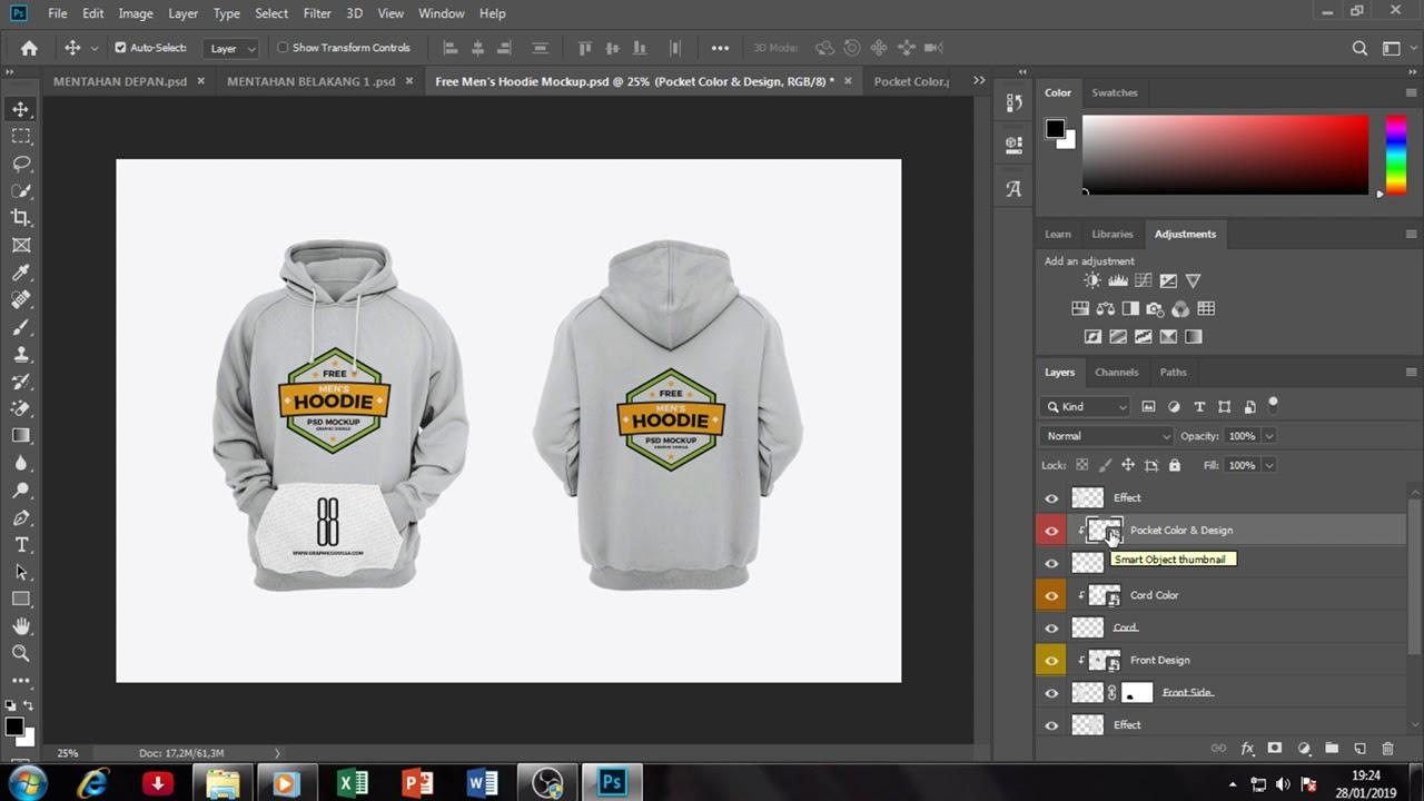 57 Desain Jaket Di Photoshop Gratis