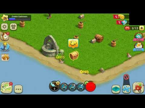 Open All Treasure Chest In Secret Island / Zombie Castaway