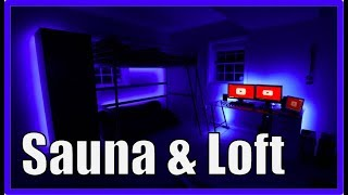 Guy's Room Tour With Loft and Sauna 2018