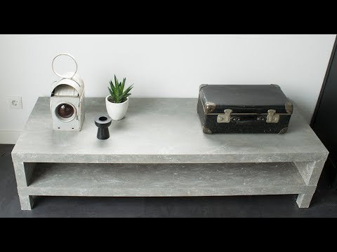 Off White Tv Meubel.Diy Betonlook Tv Meubel