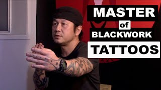 Taku Oshima Jomon Blackwork Tattoo Project: Black Addicts Tattoo, Japanese Tribal Tattoo Master