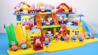 Peppa Pig Lego House Creations Toys - Lego House With Water Slide Toys For Kids