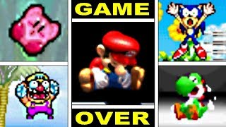 Classic Gameboy Advance Video Game Deaths & Game Over Screens