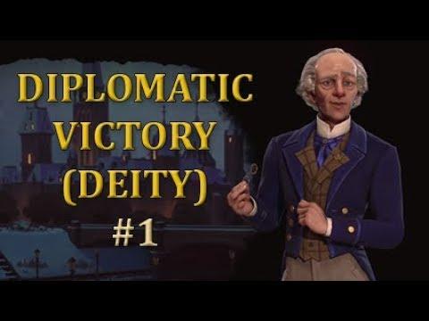 CIV 6 Deity - Diplomatic Victory, part 1
