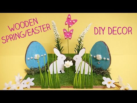 Easter Egg Wood Crafts, Bunny Rabbit, & Floral DIY|Easy Spring Decor Ideas - HobbyCraft & Poundland