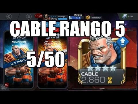 CABLE A RANGO 5/50  Marvel: Contest of Champions