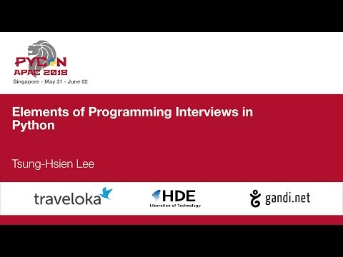 Elements of Programming Interviews in Python - PyCon APAC 20