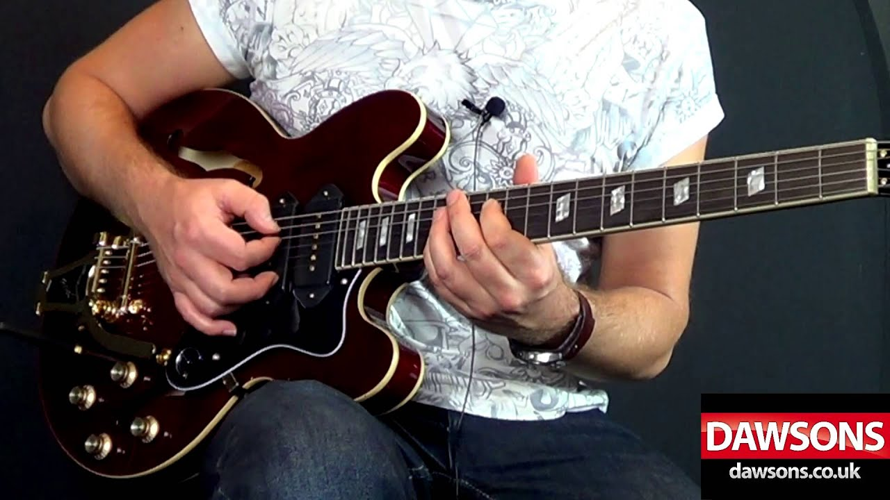 epiphone riviera custom p93 review with loop control youtube