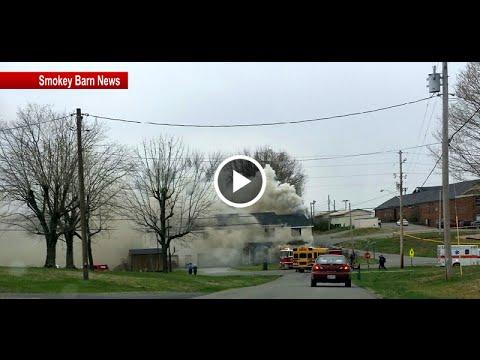 Crews Battle Fire Behind Coopertown Elementary School