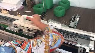Машинное вязание брюк и кармана брюк