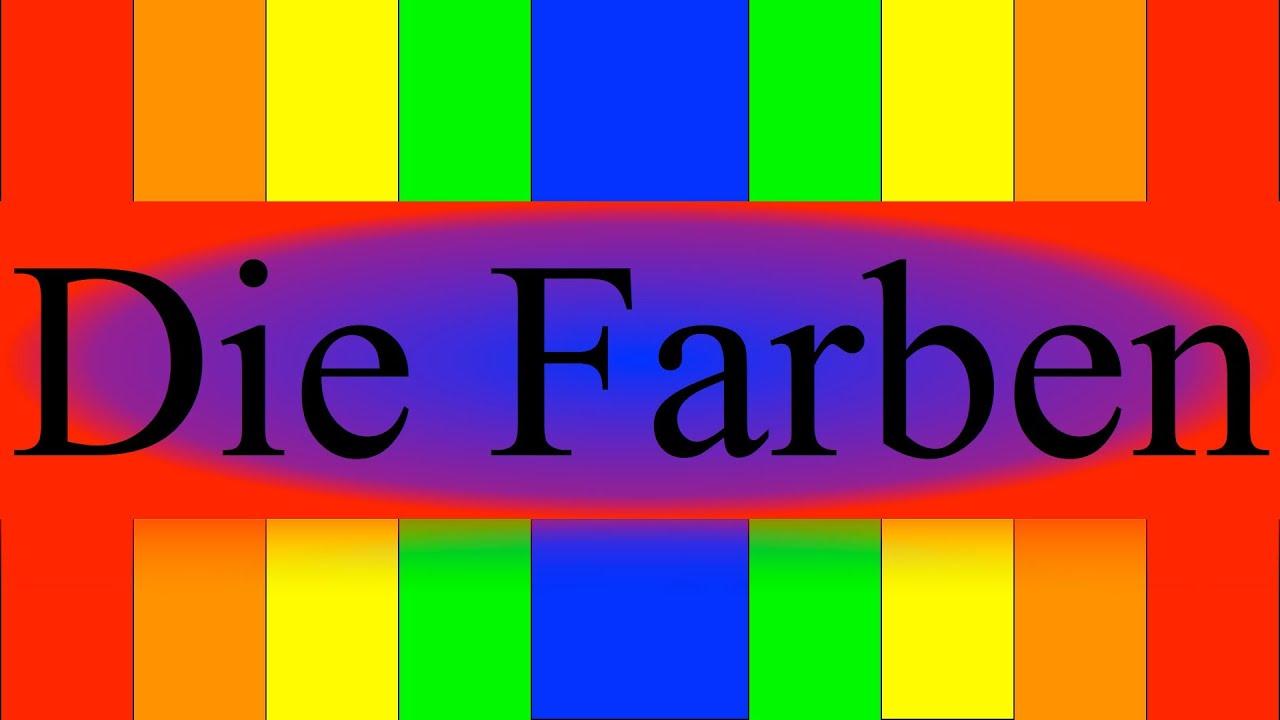 deutsche farben german colors deutsch lernen youtube. Black Bedroom Furniture Sets. Home Design Ideas