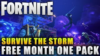 "Fortnite News ""Free Month One Pack"" Fortnite Survive the Storm Free Llamas and More!"