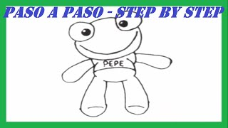 Como dibujar al Sapo Pepe paso a paso l How to draw Toad Pepe step by step