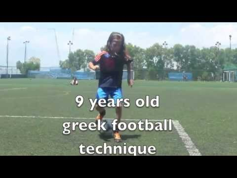 9 years old Greek football technique