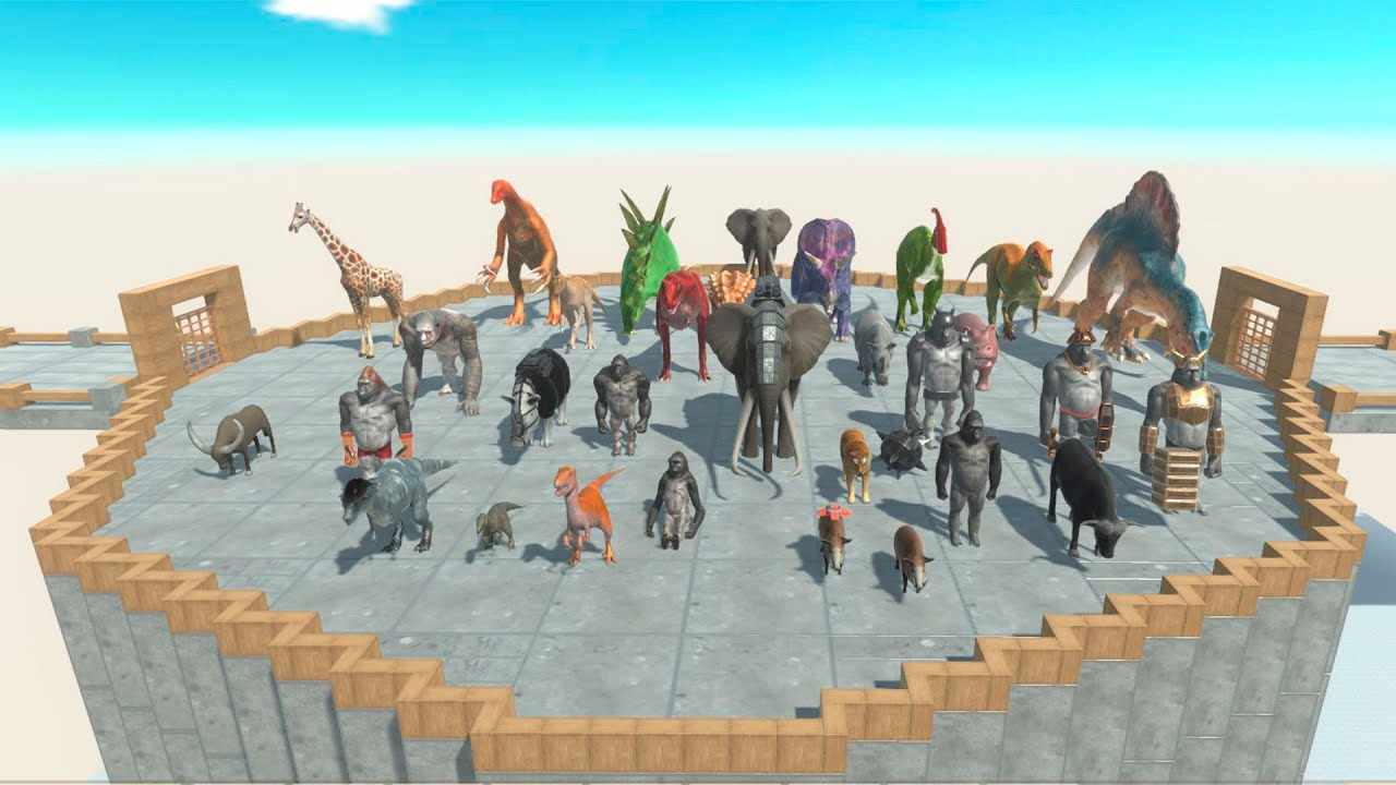 Tournament of All Units in the Arena in Animal Revolt Battle Simulator