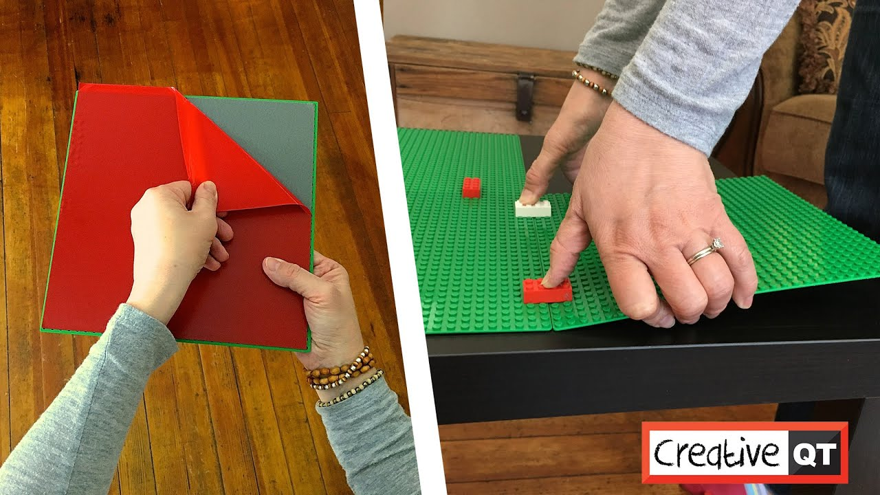 The Fastest And Easiest Building Block Table Ever L Stick Baseplates By Creative Qt You