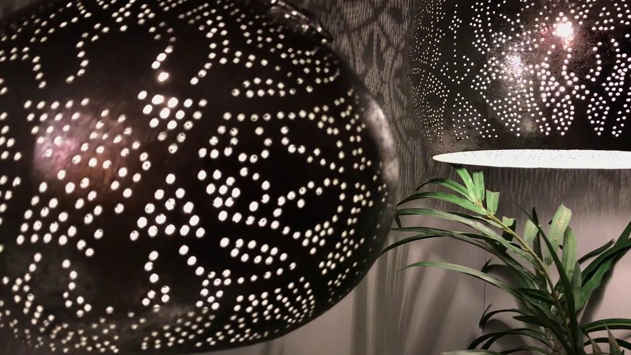 Zilveren filigrain hanglampen in modern interieur youtube