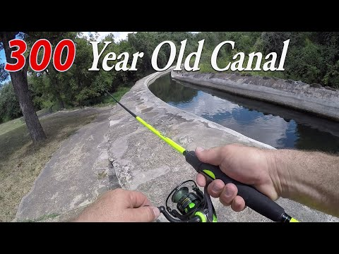 San Antonio 300 Year Old Canal Is Loaded With Fish! Which Lure To Use