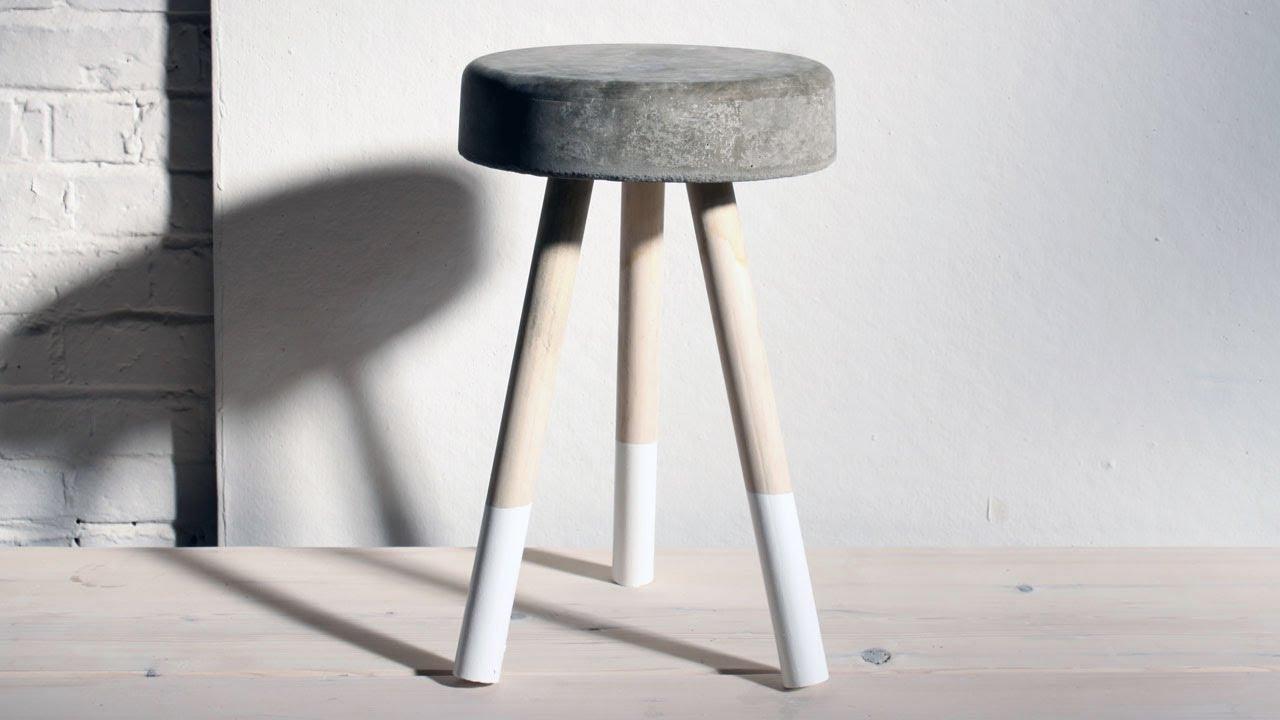 Bar Chairs Concrete Chair Rail Molding Lowes Homemade Modern Episode 8 Diy 5 Bucket Stool Youtube Premium