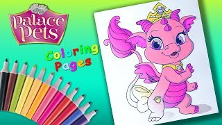 Disney Princess Palace Pets #ColoringPages #forKids #LearnColors with baby dragon Ash