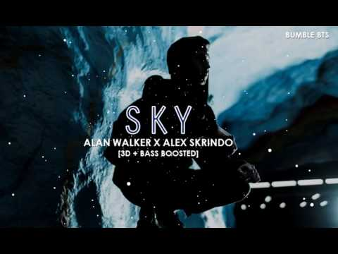 [3D+BASS BOOSTED] ALAN WALKER X ALEX SKRINDO - SKY | bumble.bts