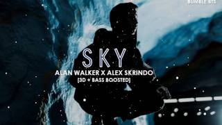 [3D+BASS BOOSTED] ALAN WALKER X ALEX SKRINDO - SKY | bumble.bts